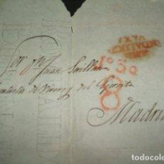 Sellos: CARTA PREFILATELICA CIRCULADA DE SNB ANDALUCIA BAXA A MADRID PORTEO 8 REALES PORTEADOR Nº 30. Lote 140209342