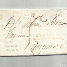 Sellos: CIRCULADA Y ESCRITA 1817 DE MAGUA A REINOSA SANTANDER CON MARCA MONTAÑAS . Lote 140306754