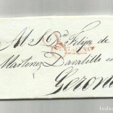 Sellos: CIRCULADA Y ESCRITA 1840 DE BARCELONA A GERONA CON MARCA CATALUÑA. Lote 140310750