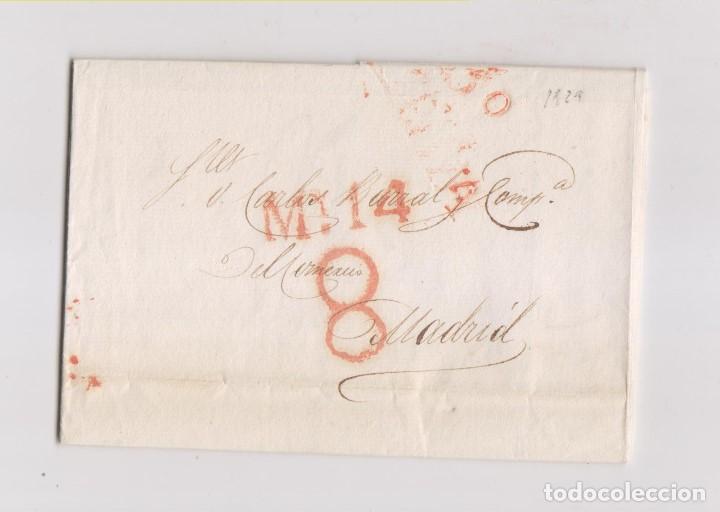 PREFILATELIA. CARTA ENTERA DE BILBAO A MADRID. PAÍS VASCO. 1829 (Filatelia - Sellos - Prefilatelia)