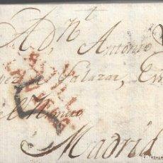 Sellos: CARTA PREFILATELICA PREFILATELIA VALLADOLID A MADRID 1806 PORTEO. Lote 143064414