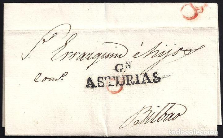 1829. ESPAÑA. SPAIN. GIJON A BILBAO. (Filatelia - Sellos - Prefilatelia)
