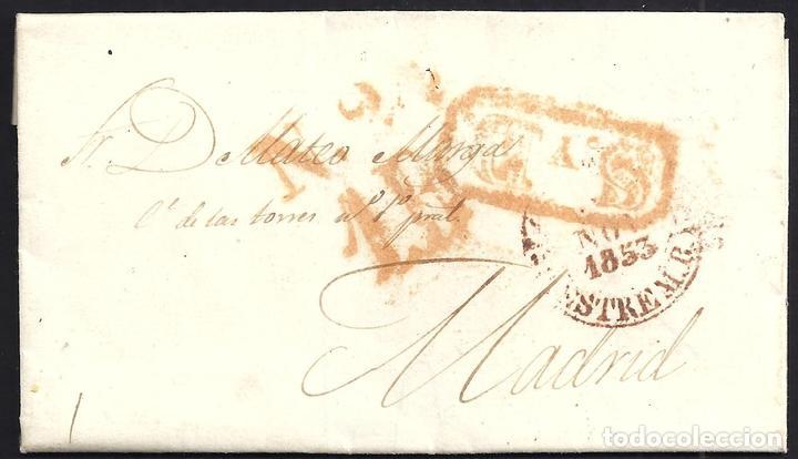 1853. ESPAÑA. SPAIN. CÁCERES A MADRID. (Filatelia - Sellos - Prefilatelia)