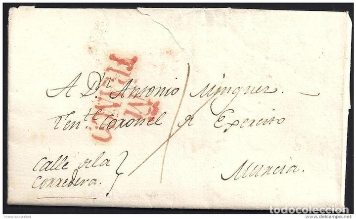 1829. ESPAÑA. SPAIN. MADRID A MURCIA. (Filatelia - Sellos - Prefilatelia)