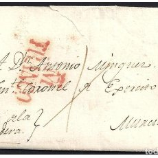 Sellos: 1829. ESPAÑA. SPAIN. MADRID A MURCIA.. Lote 144074512