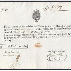Sellos: 1839. ESPAÑA. SPAIN. MADRID.. Lote 144074528