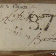 Sellos: 1806, CARTA PREFILATELICA DESDE CASPE A BARCELONA, MARCA CASPE Y FECHADOR LLEGADA. Lote 144087834