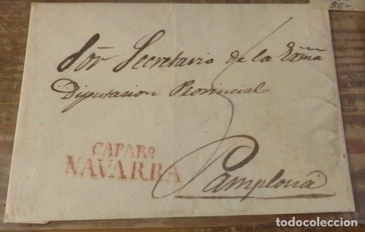 PREFILATELIA, ENVUELTA CIRCULADA ENTRE CAPARROSO Y PAMPLONA (Filatelia - Sellos - Prefilatelia)