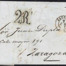 Sellos: 1853. ESPAÑA. SPAIN. BAYONA A ZARAGOZA.. Lote 144230584