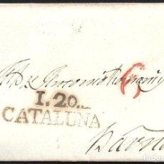 Sellos: 1827. ESPAÑA. SPAIN. CAPELLADES A BARCELONA.. Lote 144304106