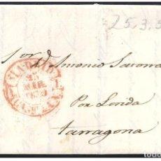 Sellos: 1850. ESPAÑA. SPAIN. MADRID A TARRAGONA.. Lote 144304585