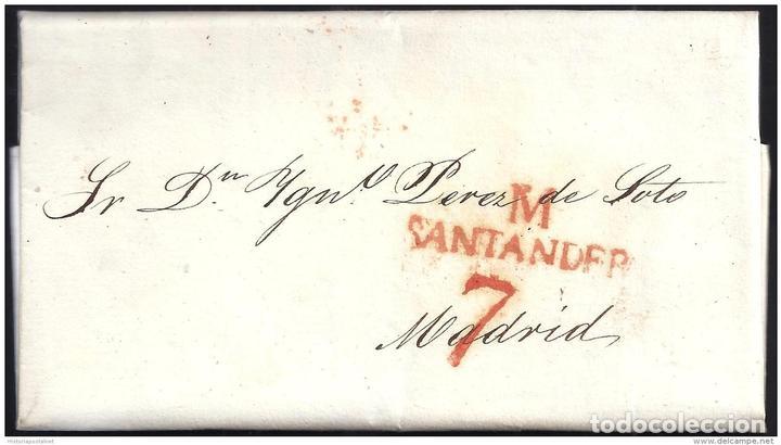 1829. ESPAÑA. SPAIN. SANTANDER A MADRID. (Filatelia - Sellos - Prefilatelia)