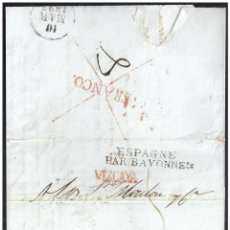Sellos: 1827. ESPAÑA. SPAIN. BILBAO A BAYONA.. Lote 144349237