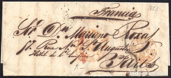 1853. ESPAÑA. SPAIN. MADRID A PARIS. (Filatelia - Sellos - Prefilatelia)