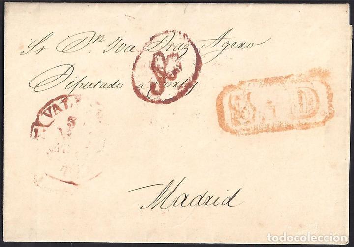 1853. ESPAÑA. SPAIN. VALLADOLID A MADRID. (Filatelia - Sellos - Prefilatelia)