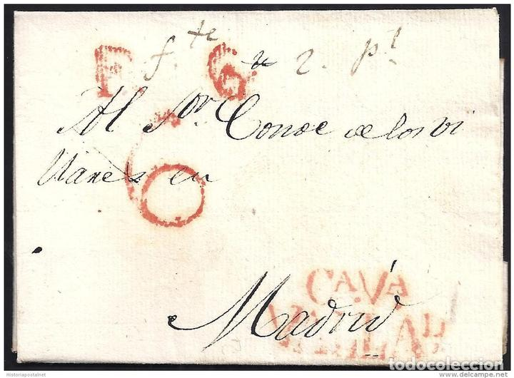 1829. ESPAÑA. SPAIN. VALLADOLID A MADRID. (Filatelia - Sellos - Prefilatelia)