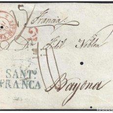Sellos: 1839. ESPAÑA. SPAIN. SANTIAGO A BAYONA.. Lote 144350833