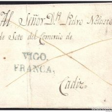 Sellos: 1832. ESPAÑA. SPAIN. BOUZAS A CADIZ.. Lote 144350953