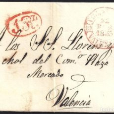 Sellos: 1853. ESPAÑA. SPAIN. VILLARREAL A VALENCIA.. Lote 144352740