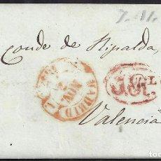 Sellos: 1853. ESPAÑA. SPAIN. MADRID A VALENCIA.. Lote 144353180