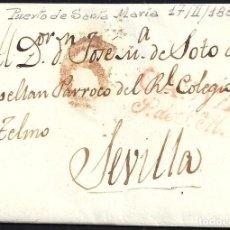 Sellos: 1832. ESPAÑA. SPAIN. PUERTO DE SANTA MARIA A SEVILLA.. Lote 144430958
