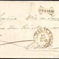Sellos: 1853. ESPAÑA. SPAIN. MANILA (FILIPINAS) A CADIZ.. Lote 144431788