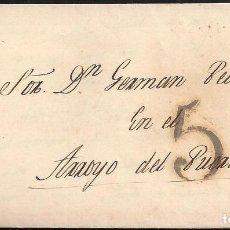 Sellos: PORTEOS. 1845. ESPAÑA. SPAIN. BARCELONA A ARROYO DEL PUERCO.. Lote 144434185
