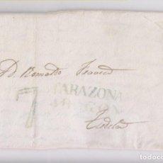 Sellos: PREFILATELIA. CARTA ENTERA DE TARAZONA, ARAGÓN, A TUDELA, NAVARRA. ESCRITA EN MALLÉN, 1840. Lote 144756142