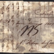 Sellos: CORREO DESINFECTADO. 1827. ESPAÑA. SPAIN. MARSEILLE. MARSELLA A SANT FELIU DE GUIXOLS.. Lote 144856642