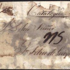 Sellos: CORREO DESINFECTADO. 1827. ESPAÑA. SPAIN. MARSEILLE. MARSELLA A SANT FELIU DE GUIXOLS.. Lote 144856646