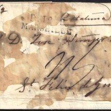 Sellos: CORREO DESINFECTADO. 1827. ESPAÑA. SPAIN. MARSEILLE. MARSELLA A SANT FELIU DE GUIXOLS.. Lote 144856650