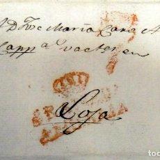 Sellos: GRANADA, 1827.CARTA PREFILATELICA MARCA GRANADA AND.BAJA, PORTEO 7. Lote 145524630