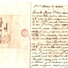 Selos: SOBRE PREFILATELIA DE SAN SEBASTIAN A IRUN (GIPUZKOA). AÑO 1838. Lote 145696218