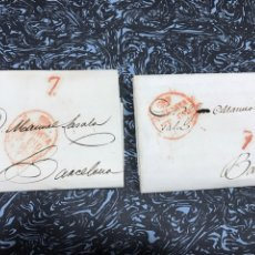 Sellos: PREFILATELIA VALENCIA BARCELONA. 2 CARTAS.1827. Lote 146636510
