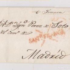 Sellos: PREFILATELIA. CARTA ENTERA FRANCA DE SANTANDER. MARCA FRANCA MANUSCRITA. RARA. 1832. Lote 146879078