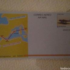Sellos: SOBRE CORREO AEREO AIR MAIL.LINEA AEREA CADIZ-MELILLA-POLLENSA-ROMA.A2.15. Lote 146923361