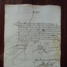 Sellos: PREFILATELIA.CARTA SIGLO XVI,AÑO 1565.MURCIA,CON TEXTO COMPLETO.. Lote 147225954