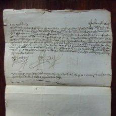Sellos: PREFILATELIA.CARTA S.XVI.CON TEXTO COMPLETO.1538,MARZO,11,MURCIA.. Lote 147228546