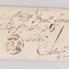 Sellos: PREFILATELIA. CARTA ENTERA DE PEÑALBA. HUESCA. MARCA DE FRAGA. MUY RARA Y DE LUJO. 1788. Lote 147308522
