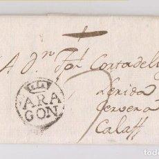 Sellos: PREFILATELIA. CARTA ENTERA DE HUESCA. 1792. MUY RARA Y DE LUJO.. Lote 147361326