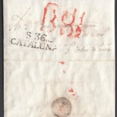 Sellos: ENVUELTA DE SANT FELIU DE GUIXOLS. 29/1/1826. TEXTO EN EL INTERIOR.. Lote 147460026