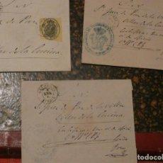 Sellos: CUENCA.TRES SOBRES PREFILATELIA ENVIADOS A VILLAR DE LA ENCINA. CORREO OFICIAL MEDIA ONZA. . Lote 147522074