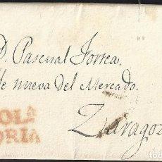 Selos: 1829. MOLINA DE ARAGÓN A ZARAGOZA. MOLA/SORIA ROJO. PORTEO 7 CUARTOS NEGRO. MUY INTERESANTE.. Lote 147977526