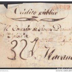 Francobolli: PREFI-330 CUBA. ESPAÑA SPAIN. STAMPLESS. S/F. SOBRE DE CADIZ A LA HABANA. SIN FECHA. CIRCA 1820.. Lote 148460534