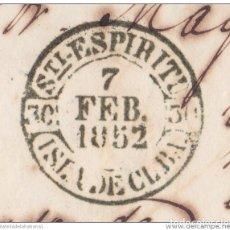 Sellos: PREFI-476 CUBA SPAIN ESPAÑA. (LG-704). PREFILATELIA STAMPLESS. 1852. PLICA BAEZA SANCTI SPIRITUS EN. Lote 148460980