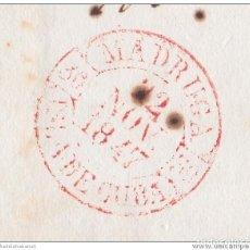 Sellos: PREFI-478 CUBA SPAIN ESPAÑA. (LG-707). PREFILATELIA STAMPLESS. 1847. PLICA BAEZA MADRUGA EN ROJO.. Lote 148460988