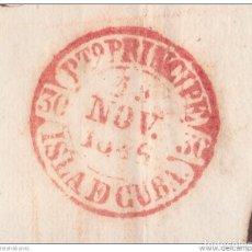 Sellos: PREFI-479 CUBA SPAIN ESPAÑA. (LG-709). PREFILATELIA STAMPLESS. 1846. PLICA BAEZA PUERTO PRINCIPE + R. Lote 148460992