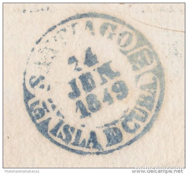 PREFI-481 CUBA SPAIN ESPAÑA. (LG-711). PREFILATELIA STAMPLESS. 1849. PLICA BAEZA SANTIAGO DE LAS VEG (Filatelia - Sellos - Prefilatelia)