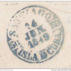 Sellos - PREFI-481 CUBA SPAIN ESPAÑA. (LG-711). PREFILATELIA STAMPLESS. 1849. PLICA BAEZA SANTIAGO DE LAS VEG - 148461000
