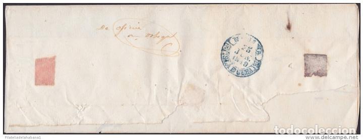 Sellos: PREFI-481 CUBA SPAIN ESPAÑA. (LG-711). PREFILATELIA STAMPLESS. 1849. PLICA BAEZA SANTIAGO DE LAS VEG - Foto 4 - 148461000